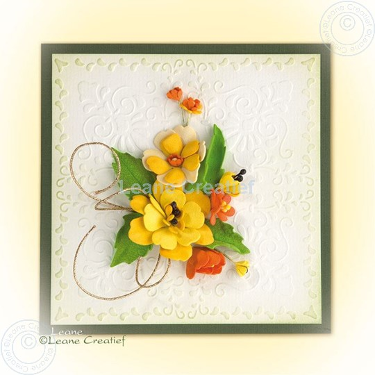 Image sur Foam flowers with set 4 yellow