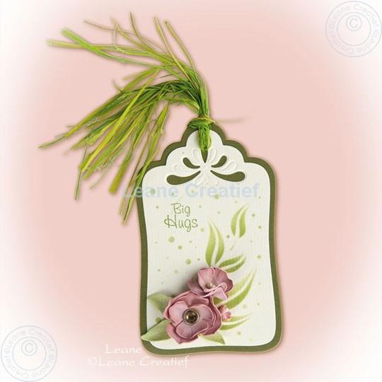 Bild von Label with foam flowers