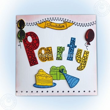 Bild von Party die and stamp