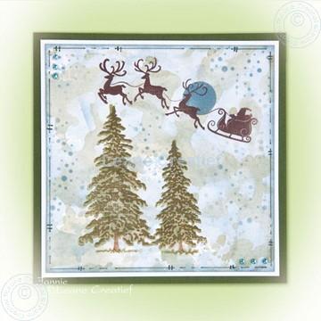 Image de Clear stamp trees & Santa
