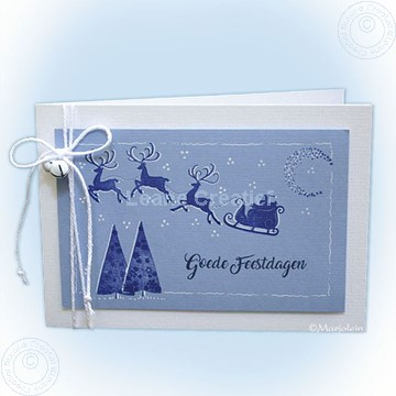 Image de Combi stamp Santa & small Christmas trees