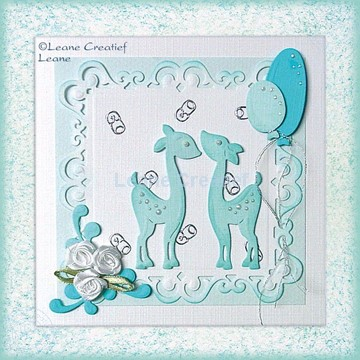 Afbeeldingen van Hertjes als babykaart