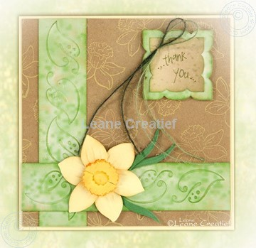 Afbeeldingen van Embossing folder border leaves