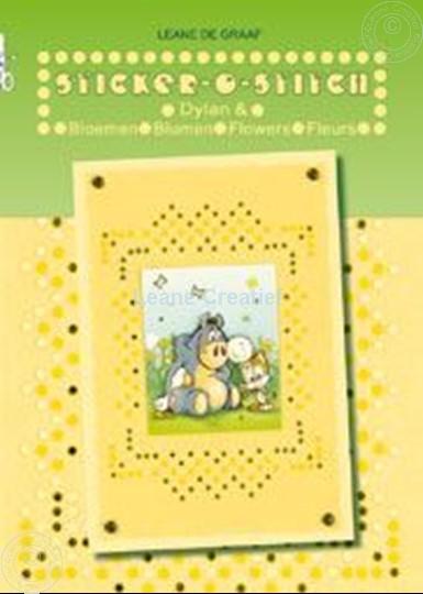 Afbeelding van Sticker-O-Stitch® met Dylan® & bloemen