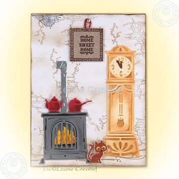 Afbeeldingen van Stove & clock