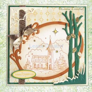 Afbeeldingen van Kerkje in sepia kleur