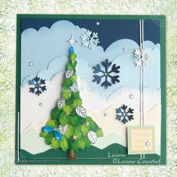 Afbeeldingen van Kerstboom knipvel set