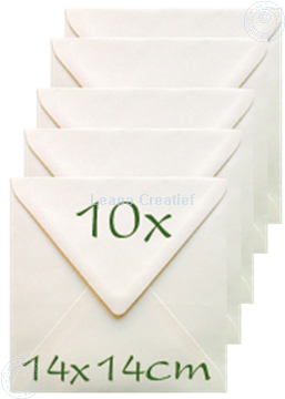 Image de Enveloppes 14x14cm cream