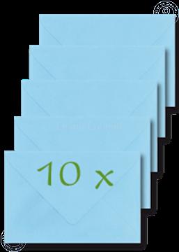 Afbeeldingen van Enveloppen 12x17,5cm l.blauw