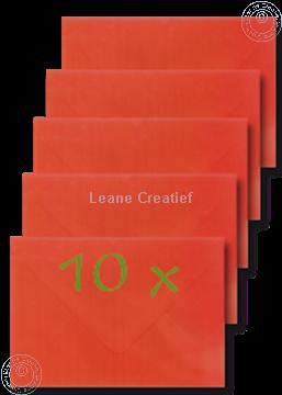 Afbeeldingen van Enveloppen 12x17,5cm rood