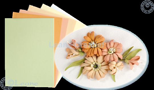 Bild von Flower foam set 3 Lachs Farben