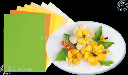 Bild von Flower foam set 4 gelb