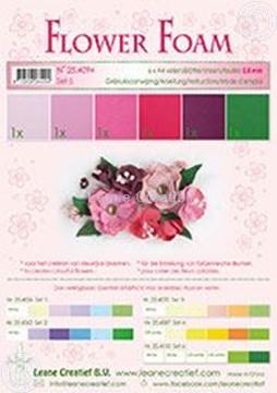 Image de Flower foam set 5 rouge