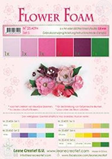 Bild von Flower foam set 5 rot