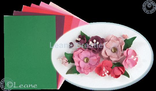 Afbeelding van Flower foam set 5 rood