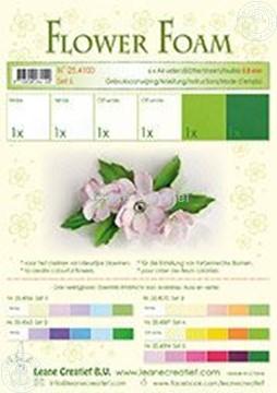 Picture of Flower foam set 6 white/green