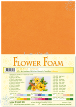 Bild von Flower foam A4 sheet orange