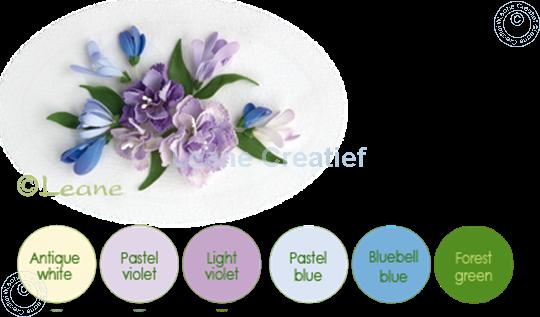 Picture of Flower foam set 7 pastel blue/violet