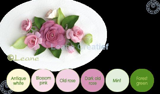 Afbeelding van Flower foam set 8 roze tinten