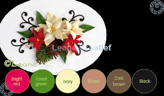 Image sur Flower foam set 9 brun/rouge/vert