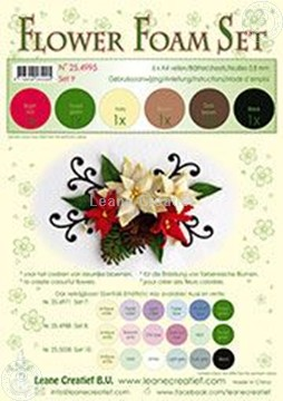 Image de Flower foam set 9 brun/rouge/vert