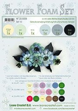 Image de Flower foam set 10 noir/gris