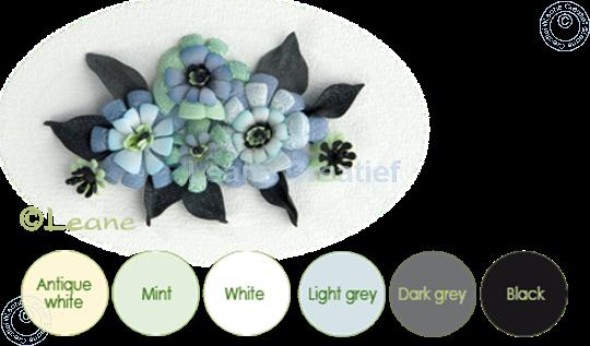 Picture of Flower foam set 10 black/grey