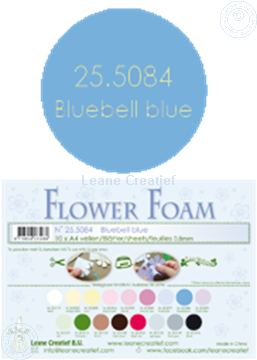 Bild von Flower foam A4 sheet bluebell blue