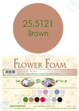 Bild von Flower foam A4 sheet brown