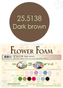Bild von Flower foam A4 sheet dark brown