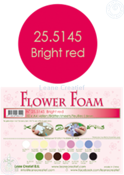 Bild von Flower foam A4 sheet bright red