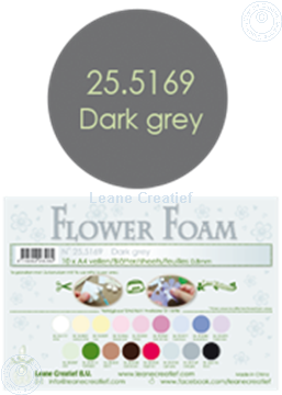 Bild von Flower foam A4 sheet dark grey
