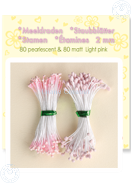 Picture of Stamen ± 80 matt & 80 pearl light pink