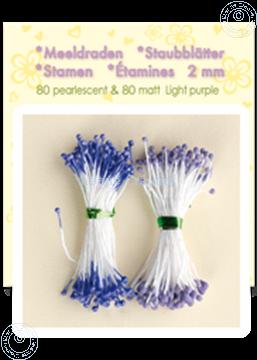 Picture of Stamen ± 80 matt & 80 pearl light purple