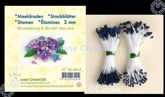 Bild von Staubblätter ± 80 matt & 80 pearl navy blue