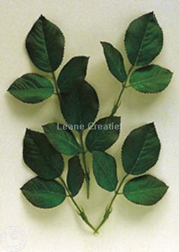 """Afbeeldingen van LeCreaDesign® Bladgroen pakket """"Blad rozen"""""""