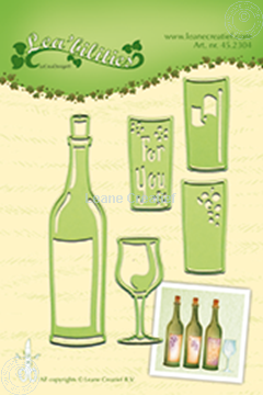 Image de Wine bottle & glass