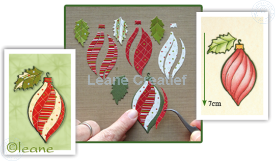 Bild von Paper patch Christmas ornament