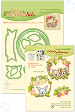 Picture of Set Lea'bilitie&Clearstamp Wreath with pets
