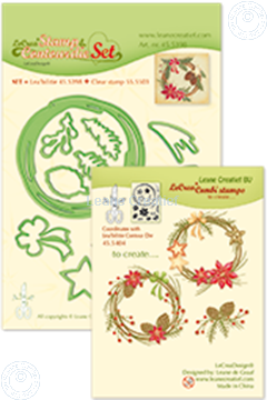 Afbeeldingen van Set Lea'bilitie&Clearstamp Christmas wreath