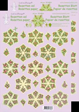 Bild von Rosetten Schneideblätter Blumen grün/gelb