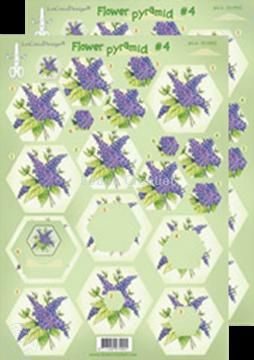 Image de Images pyramide à découper des fleurs #P4