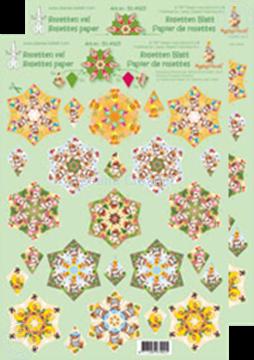 Bild von Rosetten Schneideblätter Mylo & Friends® grün/gelb