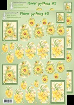 Image de Images pyramide à découper des fleurs 50.4956
