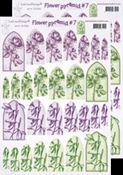 Image de Images pyramide à découper des fleurs 50.5410