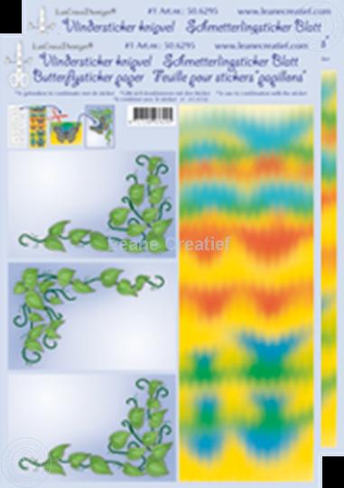Bild von LeCreaDesign® Schmetterlingsticker Blätter