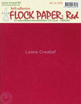 Picture of Flock paper red 15x15cm