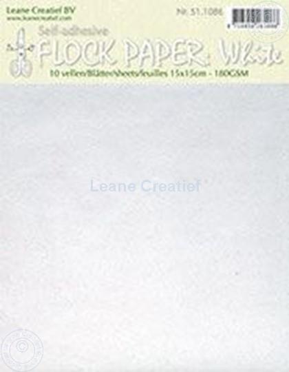 Image sur Flock paper white 15x15cm