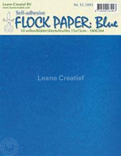 Afbeelding van Flock paper blue 15x15cm