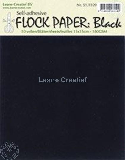 Image sur Flock paper black 15x15cm